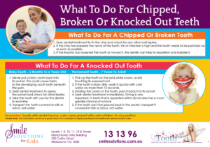 knocked out tooth guide