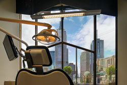 Patient view from our specialist dentistry practice, Level 12.