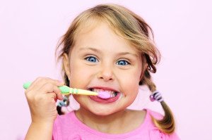 child to brush their teeth